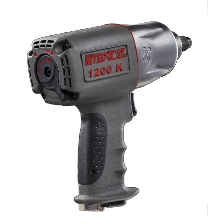 NitroCat 1200-K 1/2 inch Kevlar Composite Air Impact Wrench with Twin Clutch Mechanism