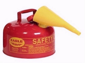 Eagle UI-20-FS Red Galvanized Steel Type 1 Gasoline Safety Can