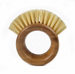 Full Circle Ring Bamboo Vegetable Cleaning Brush