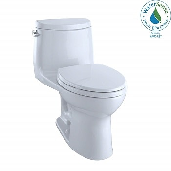 TOTO MS604114CEFG#01 UltraMax II One-Piece Elongated 1.28 GPF Universal Height Toilet