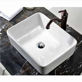 VCCUCINE Rectangle Above Counter Porcelain Ceramic Bathroom Sink